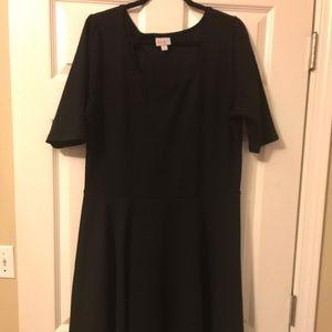 LuLaRoe Nicole Dress Black 3XL